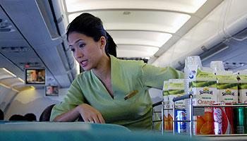 Was verdient eine Flugbegleiterin